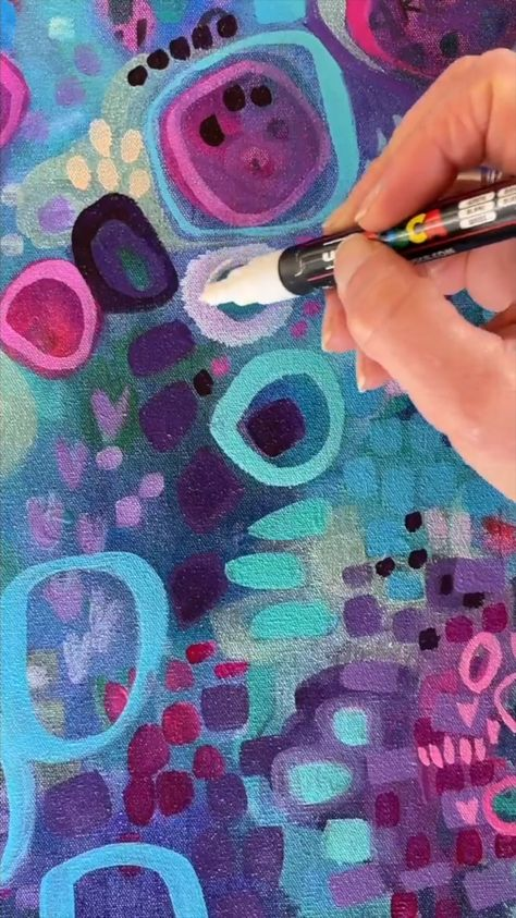Abstract art and colorful mark making