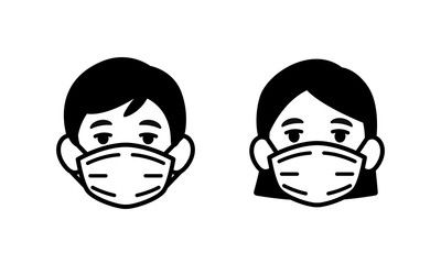 Download Face Mask Sewing Pattern Front View For Free Face Protection Mask Face Protection Vector Illustration