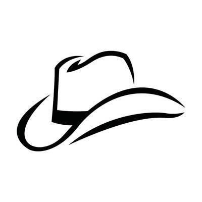 Western Cowboy Hat In Black Stylized Brush Marks Vector Icon Posters Brian Goff Allposters Com In 2021 Cowboy Hats Cowboy Hat Drawing Cowboy Tattoos