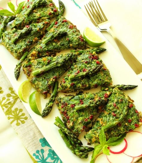 Kookoo-ye Marchoobeh - Asparagus Frittata - PERSIAN RECIPES