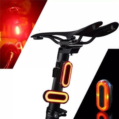 Led Bicycle Cycling Tail Light Usb Rechargeable Bike Rear Warning Light 6 Modes Sale Price Reviews Dengan Gambar