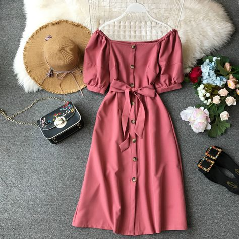 2020 Elegant Pink Sexy Dress Korean Bohemian Beach Party Dress Summer Dress Women Clothes Women's Dresses Vestidos ZT2035|Dresses|   - AliExpress