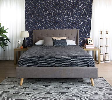 Constellations Navy Removable Wallpaper Removable Wallpaper Furniture Home Decor Items Bedroom wallpaper ideas navy