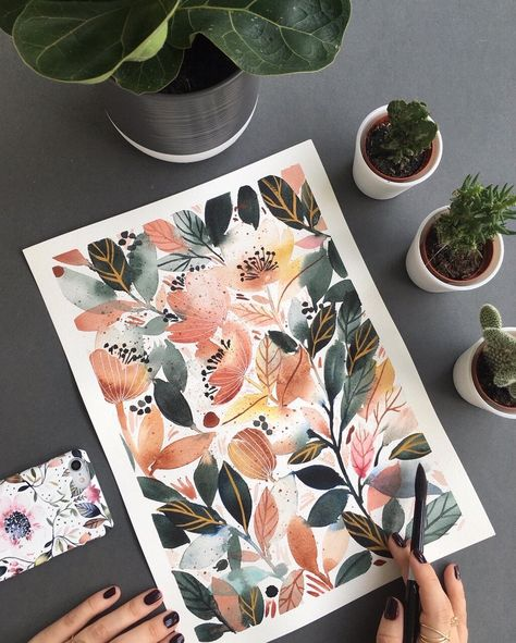 Inga Buive chats about making art in short bursts, letting go of the pressure to find your style and the magical qualities of watercolour paint! Painting Tutorial, Watercolor Art, Colorful Art, Art Painting, Art Drawings, Watercolor Artists, Floral Art, Art, Painting Art Projects