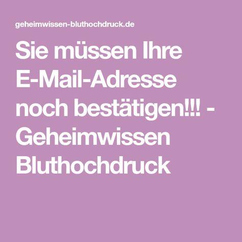 Bestätigen Sie Ihre E Mail Adresse