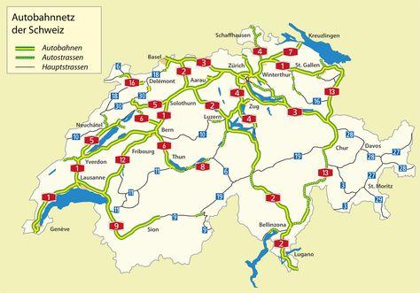Autobahnnetz Schweiz Schweiz Wikipedia Schweiz Karten