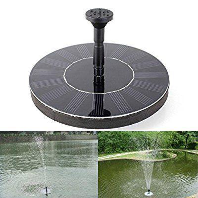 Topdeal 16 5 Cm Outdoor Solar Powered Wasser Schwimmende Pumpe