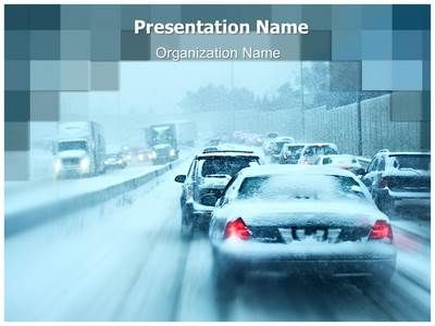 Taxi Service PowerPoint Templates to create presentations taxi - winter powerpoint template