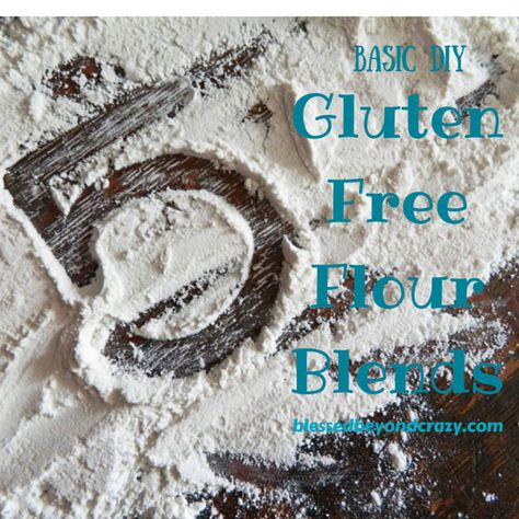 5 Basic DIY Gluten Free Flour Blends. A must save recipe for everyone on a gluten free diet!