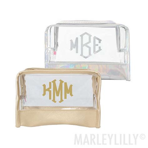 Monogrammed Clear Cosmetic Bag