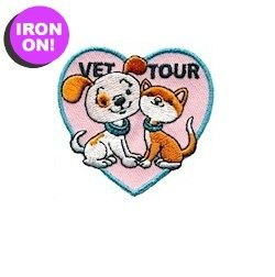 Vet Tour Patch from MakingFriends.com. Take a tour when earning your Brownie Pets Badge and earn this Vet Tour Fun Patch.