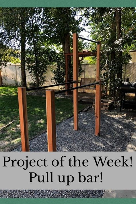 Project of the Week! Pull up bars! Backyard Gym, Backyard Obstacle Course, Cozy Backyard, Backyard Retreat, Backyard Projects, Outdoor Pull Up Bar, Diy Pull Up Bar, Outdoor Gym, Sport Outdoor