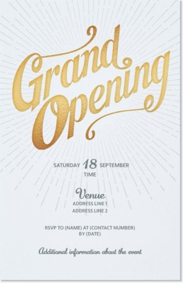 Printable Grand Opening Celebration invitation by DigitalLine PSB - best of invitation card sample for inauguration