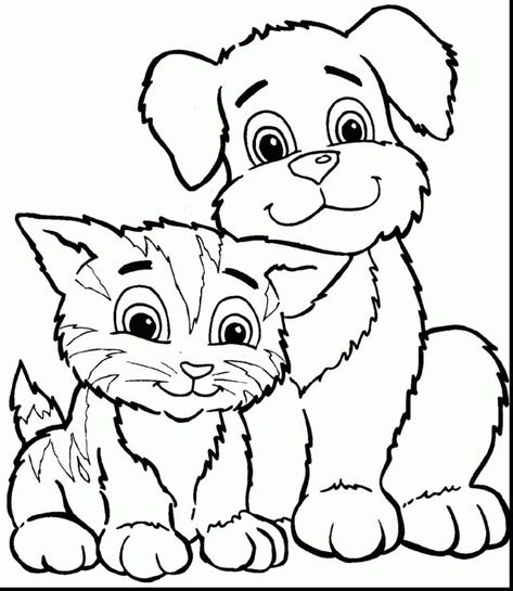 27 Beautiful Image Of Coloring Pages Of Cats Dog Coloring Page