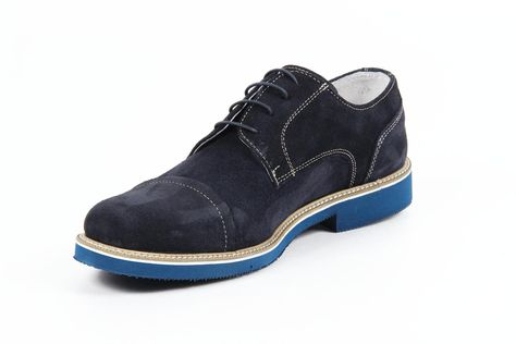 Versace 19.69 Abbigliamento Sportivo Milano mens oxford shoes 0905 CAMOSCIO BLU