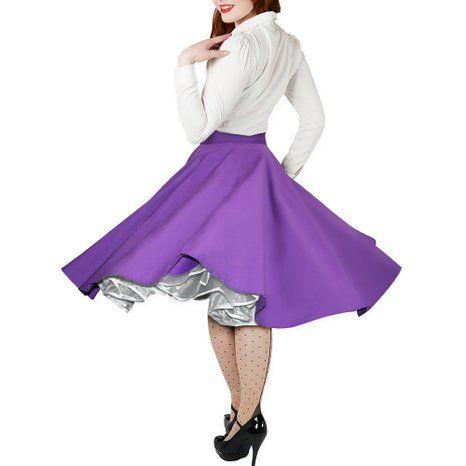 Black Butterfly Vintage Rockabilly Cercle Complet Jupe De 1950 (Cadbury Violet, 36): Amazon.fr: Vêtements et accessoires