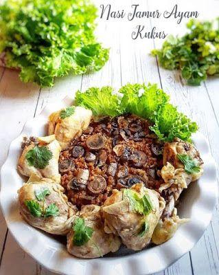 Nasi Jamur Ayam Kukus Masakan Resep Masakan Resep Makanan