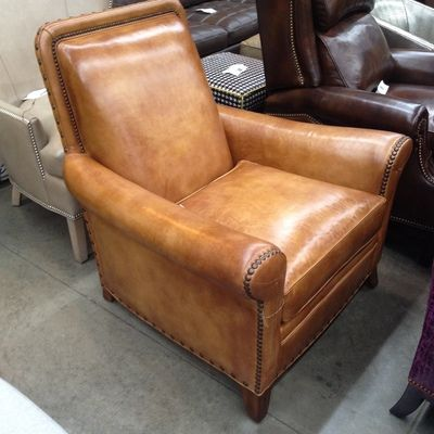 The Shumaker Chair Is A Unique Leather Chair From Hancock U0026 Moore.  Featuring A Tight Back With Extended Top. Now Available At Lincolnshire  Toms Pru2026 ...