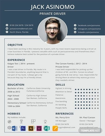 Free Driver Resume Cv Template Word Doc Psd Indesign Apple Mac Pages Illustrator Publisher Creative Resume Template Free Infographic Resume Template Resume Template