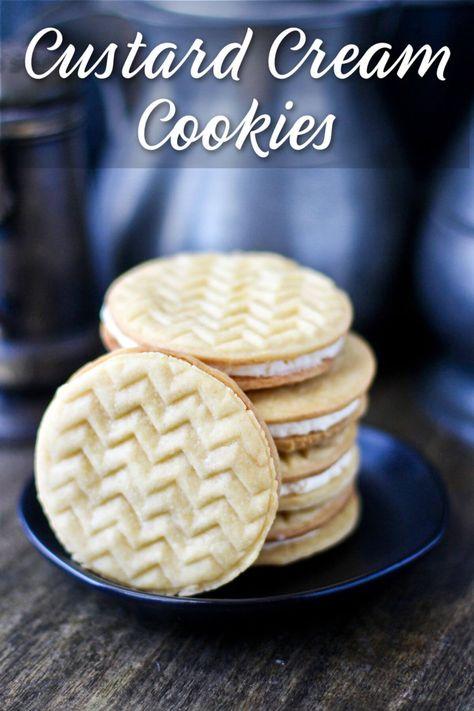 Custard Cream Sandwich Cookies with Vanilla Bean Filling. #SummerDessertWeek