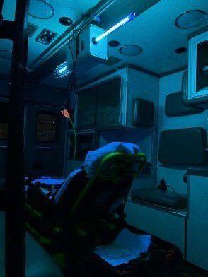 MMR using prototype UVC lights to sanitize ambulances