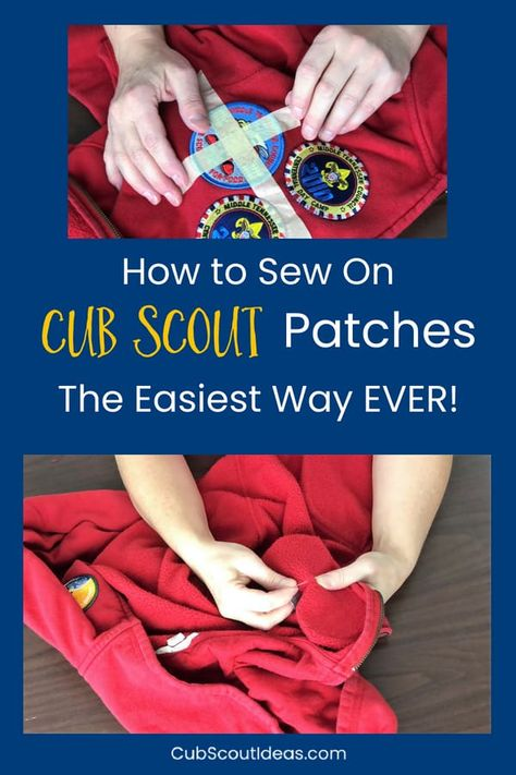 Check out the EASIEST way to hand sew Cub Scout patches and badges onto the uniforms. #CubScouts #CubScout #Scouting #Webelos #ArrowOfLight via @CubIdeas