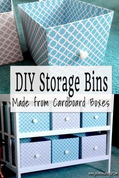 How To Make Storage Bins From Cardboard Bo Easy Tutorial Organizations And Craft