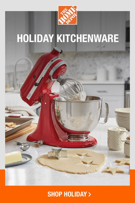 If your stash of baking tools could use an upgrade, head over to The Home Depot. Our kitchenware shop has everything you need to streamline your cooking time and really pull off those holiday recipes. Tap to shop now online at The Home Depot.