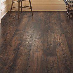 Rugged Vision 7 5 X 54 34 X 11 93mm Chestnut Laminate Flooring In Dark Brown Flooringrenovations Wood Floors Wide Plank Flooring Hardwood Floors Dark