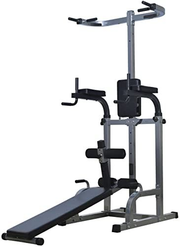 New Soozier 80 Full Body Power Tower Home Gym Fitness Adjustable Sit Up Bench Online Topusashoppingsites In 2020 Home Gym Gym Workouts Power Tower
