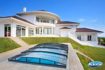 Albixon Casablanca Infinity B 446x850cm Pool Überdachung / Schwimmbad  Überdachung