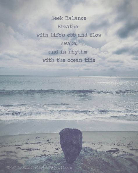 Balance Quote Inspirational Print Ocean Wave Photo   Etsy