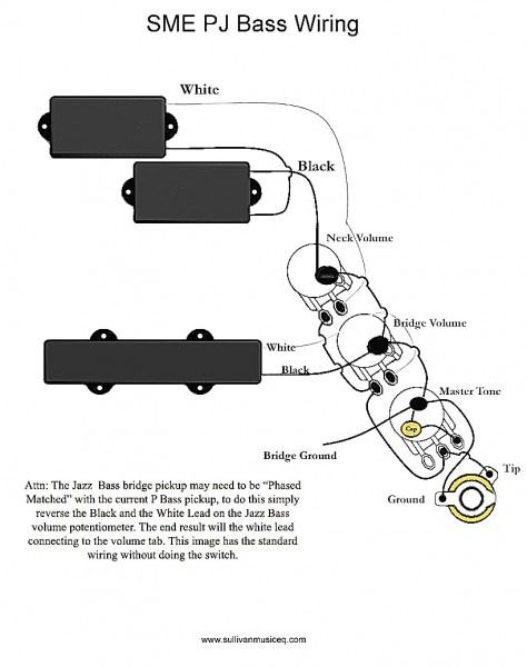 Fender Jazz Bass Special Wiring Diagram from i.pinimg.com