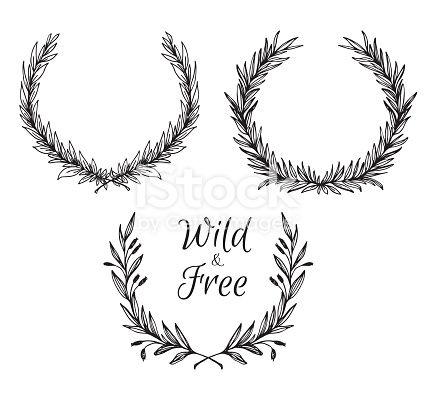 Hand Drawn Vector Illustration Vintage Decorative Laurel Wreath Hand Drawn Vector Illustrations Wreath Drawing How To Draw Hands