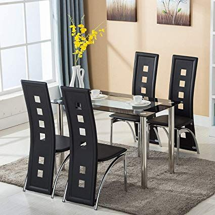 Black Kitchen Table And Chair Sets Kitchen Glass Dining Set