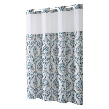 Home Shower Curtains Walmart Hookless Shower Curtain Coral