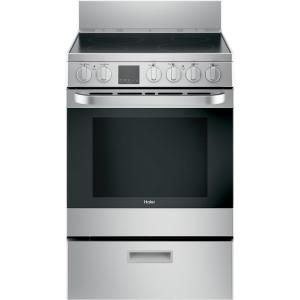 Haier 24 In 2 9 Cu Ft Electric Range With Self Cleaning Convection Oven In Stainless Steel Qas740rmss In 2020 Freestanding Electric Ranges Electric Range Convection Oven