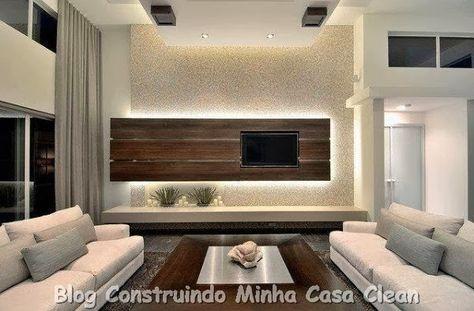 Sala Para Tv Moderna.Home Theater 20 Projetos De Salas De Tv Modernas