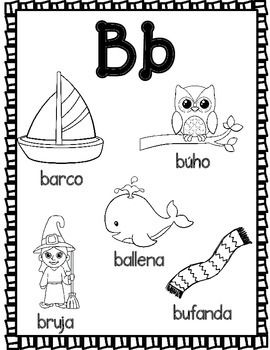 El Alfabeto Spanish Alphabet Coloring Sheets Spanish Alphabet Spanish Preschool Activities Alphabet Coloring