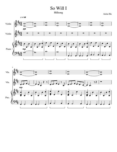 Print And Download In Pdf Or Midi So Will I Anita Hu Free Sheet