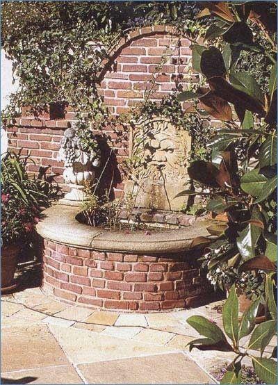 Gartenweg Aus Alten Steinen Gartengestaltung Mit Ziegelsteinen Brunnen Garten Gartenbrunnen Garten