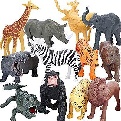 Bolmaz Safari Zoo Animal Figurines Toys, Farm Animal Figurines