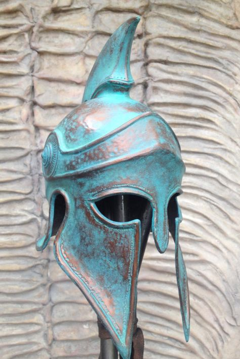 Excited to share this item from my #etsy shop: Greek Spartan Helmet Larp Helmet Cosplay Helmet Props for Movies Replica Props Greek Helmet Ancient Аrmor Ancient Mask 300 Rise of an Empire