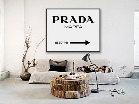 Grown-Up Wall Posters to Buy Online - Prada Poster, $5; at Etsy