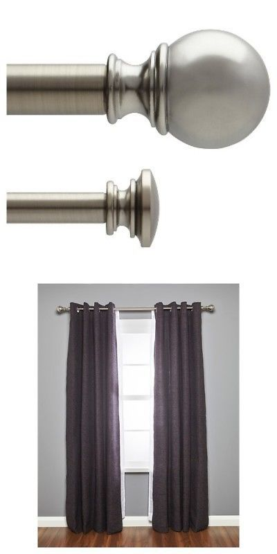 Curtain Rods And Finials 103459 New Umbra Loft Ball Double
