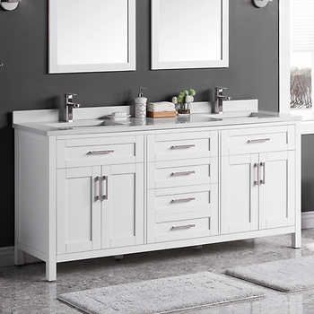 Lakeview 72 Vanity By Ove With Images 72 Vanity Bathroom
