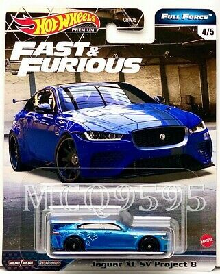 Hot Wheels 2020 Fast Furious Premium Full Force Jaguar Xe Sv Project 8 In 2020 Jaguar Xe Hot Wheels Jaguar