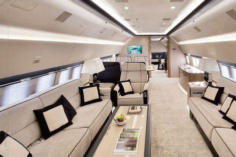 Decor in 737 airplane - by Veranda Interiors