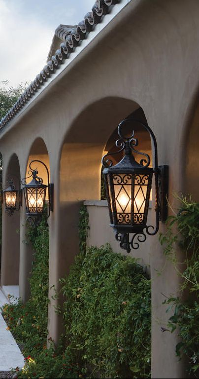 Old World Mediterranean Italian Spanish Tuscan Homes Decor Patio Lightingoutdoor