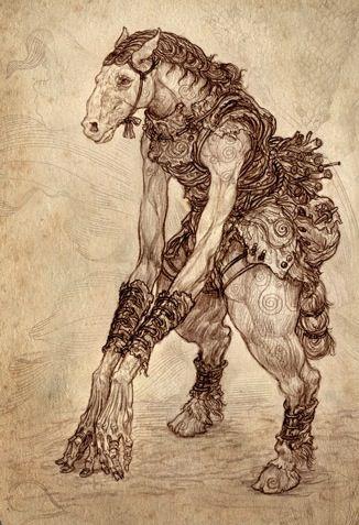 Tikbalang- Philippine myth: a tall bony humanoid with
